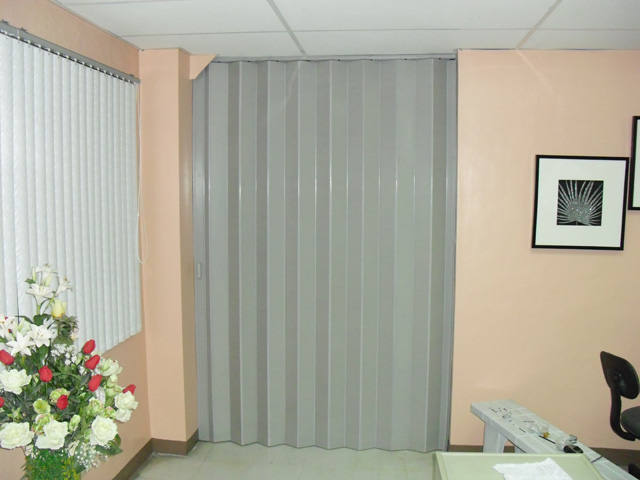 Pvc Folding Door Installation At Naia Pasay City