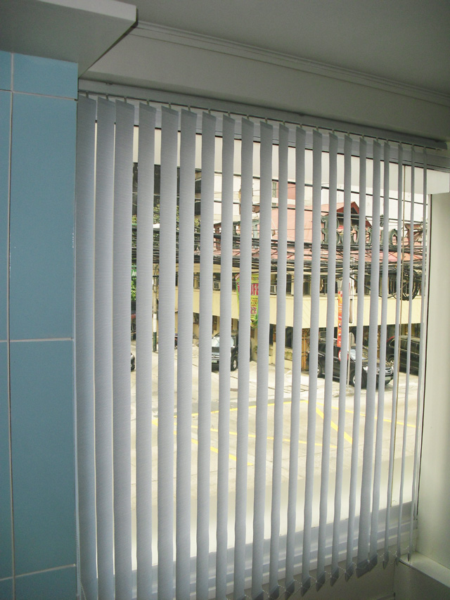 Fabric Vertical Blinds Installed at Makati Ave. Makati City Philippines