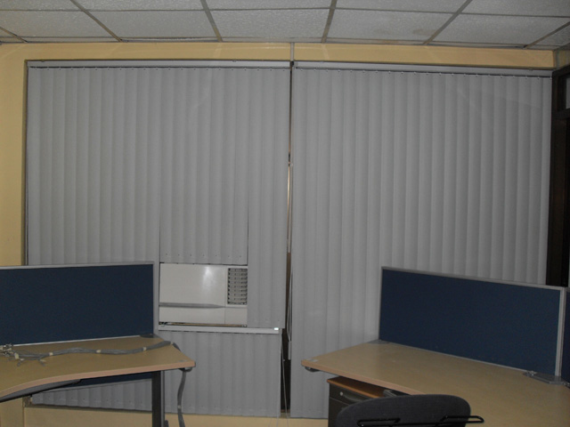 PVC Vertical Blinds Installed at Arnaiz Ave. Makati City Philippines