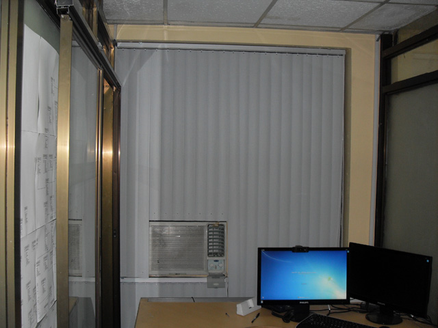 Arnaiz Ave. Makati City Philippines Installation of PVC Vertical Blinds