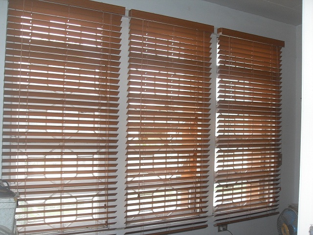 Installed Faux wood blinds at Ilocos Sur, Philippines