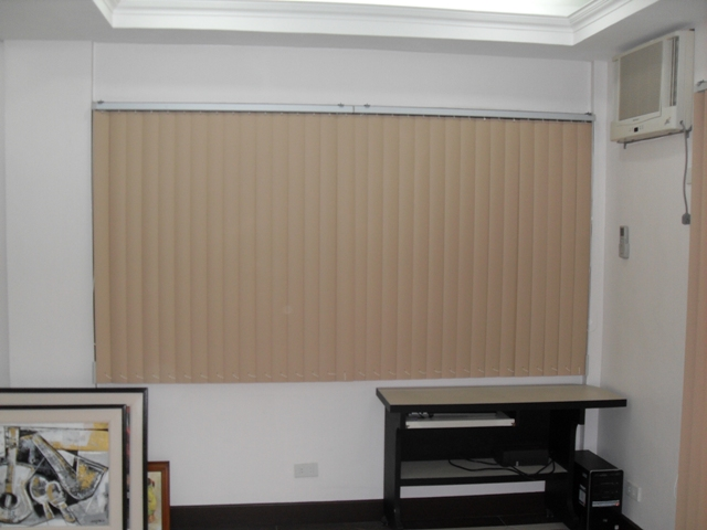 View of PVc Vertical Blinds when Closed