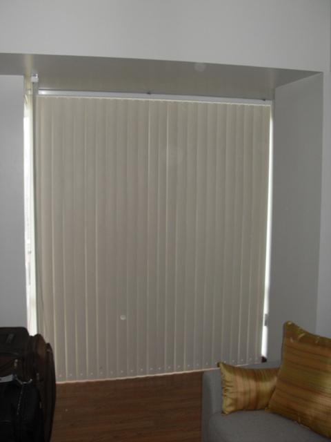 PVC Vertical Blinds: Richmond Cream Color