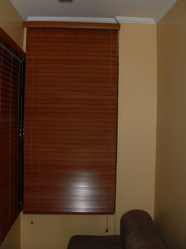 Wooden Blinds 362 OAK Installed at Biñan Laguna, Philippines