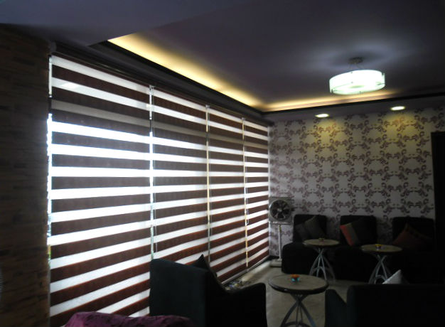 Unique, Chic and Functional Combi Blinds in Living Area