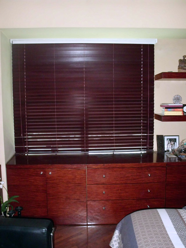 Wood Blinds 368 MAHOGANY Installed at Lucena City, Philippines