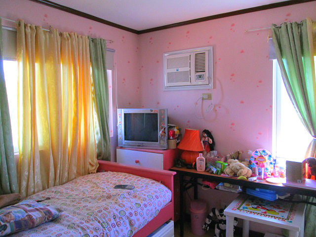 Installation of Pink Vinyl Wallpaper at Bangkal, Makati City, Philippines
