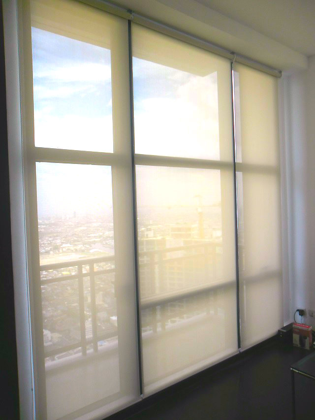 "Roller Blinds "" A4502 Beige"" Installed at Parañaque City, Philippines"