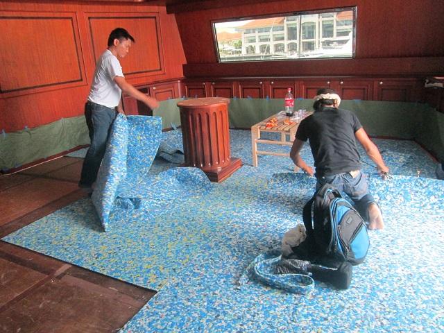 Installation of Underlay Foam for Broadloom Carpet