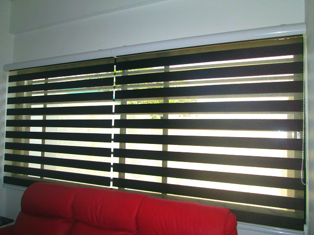 "Combi Blinds ""W207 Choco"" Installed at Ayala Alabang, Philippines"