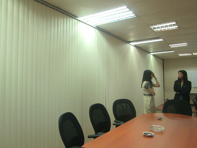 Installation of PVC Vertical Blinds in Quezon City, Philippines