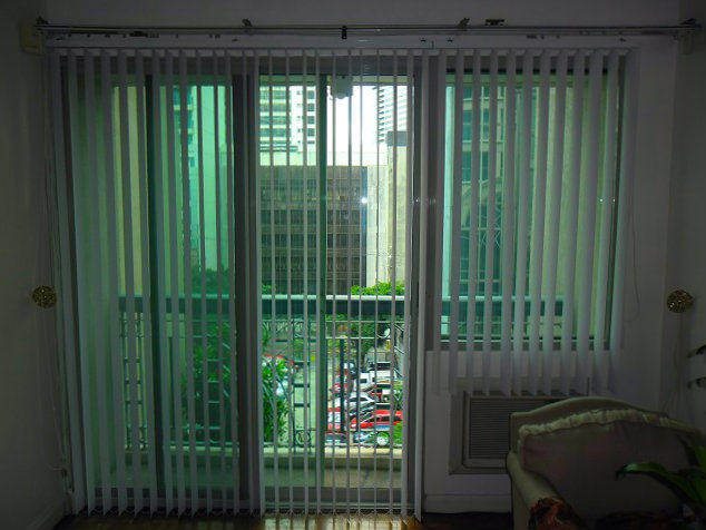 "PVC Vertical Blinds ""Richmond White"" Installed at Makati City, Philippines"