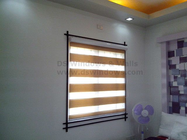 Pleated Design of Combi Blinds