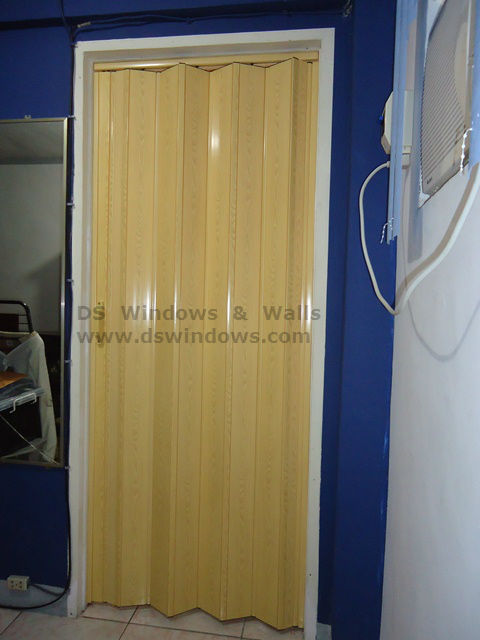 PVC Folding Door for Bathroom Area