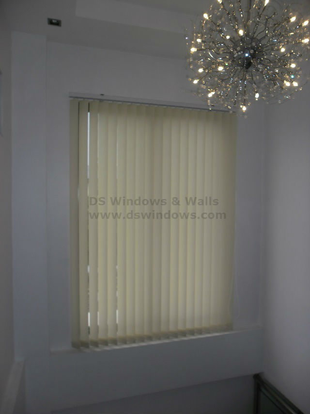 Fabric Vertical Blinds for Loft Type Windows