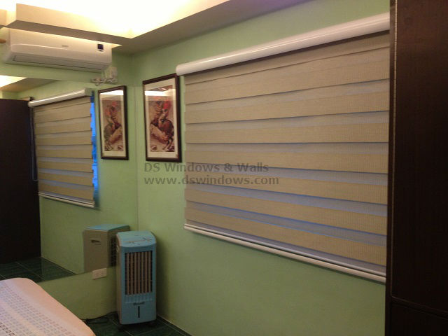 Installation of Combi Blinds in a Bed Room Window in Subic, Philippines