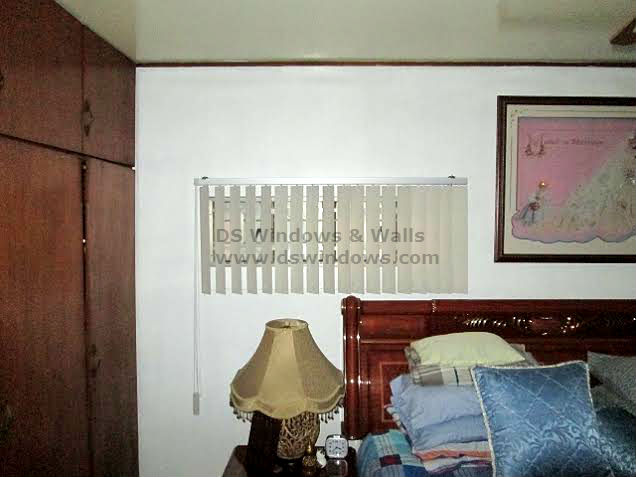 PVC Vertical Blinds in Bed Room Window