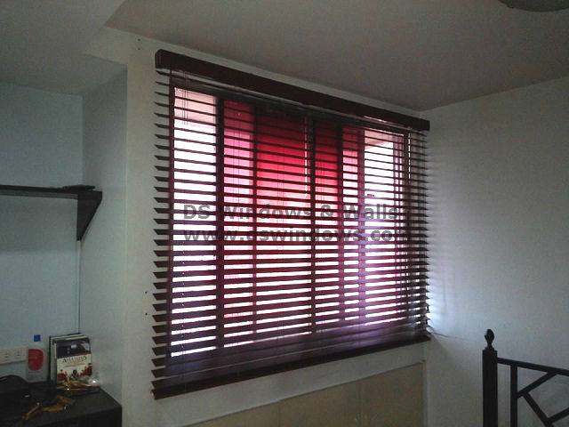 Faux Wood Blinds Installed in Mandaluyong City, Philippines
