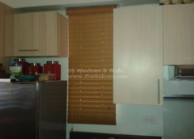 Foam Wood Blinds in Kitchen Area