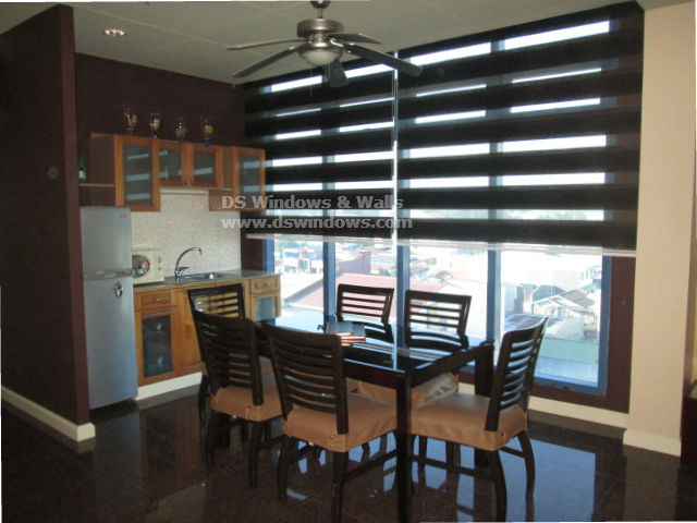 Combi Blinds Installed in Dining Area