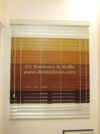 Multi-colored Real Wood Blinds
