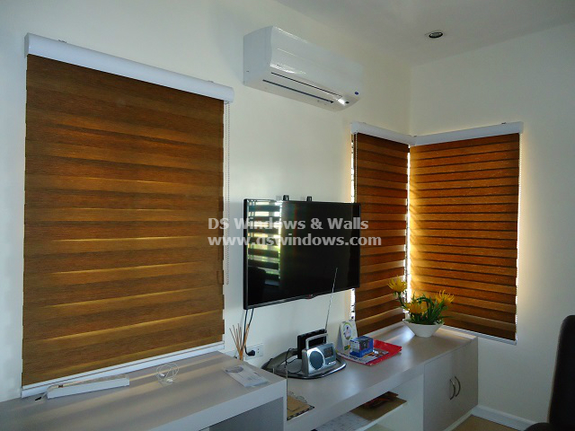 Combi Blinds for Dark and Light Home Motif