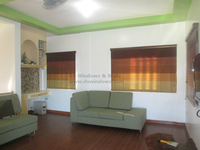 Faux Wood Blinds Installed in Gulang Gulang, Lucena City, Philippines