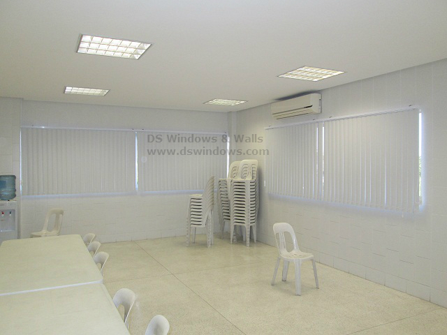 PVC Vertical Blinds Installed in the Lobby - Batasan Hills, Quezon City.