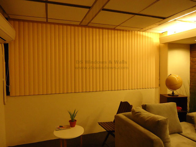 PVC Vertical Blinds Installed in White Plains, Quezon City