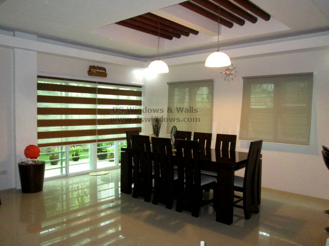 Roller and Combi Blinds For Guest Accommodating Dining Area - Ayala Heights, Quezon City