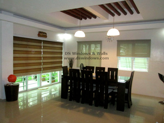 Combi and Roller Blinds Installed in Dining Area - Ayala Heights, Quezon City