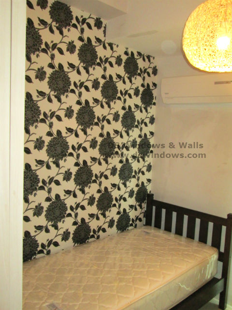 Small Bedroom Design Ideas With Black U0026 White Vinyl Wallpaper: Palm  Village, Makati City