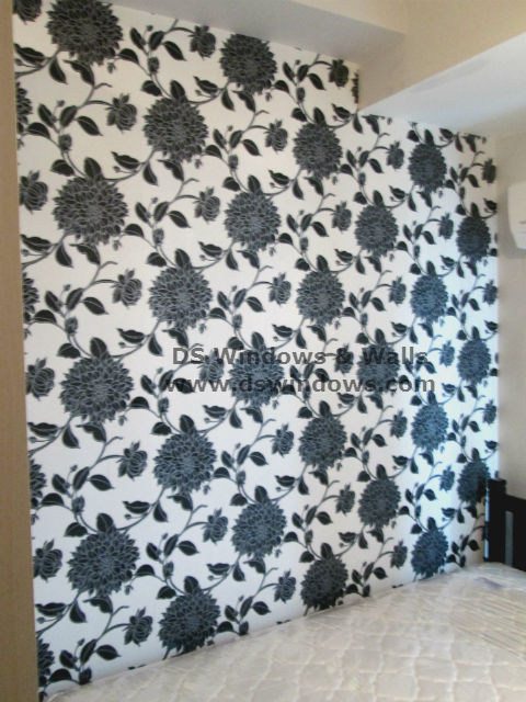 Vinyl Wallpaper Installed in Small Bedroom - Palm Village, Makati