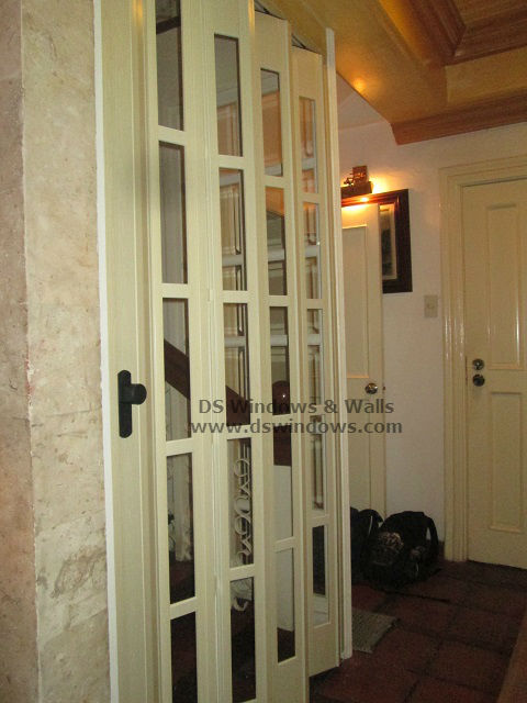Full Glass French Type Folding Door Installed at Rainbow Village, Las Piñas Metro Manila