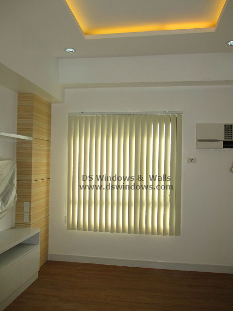 PVC Vertical Blinds installed at Mandaluyong City, Philippines