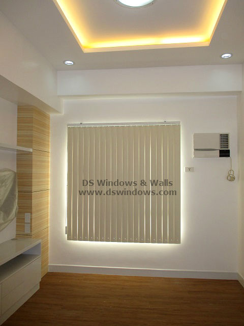 Pvc Vertical Blinds Matched With Light Oak Wood Flooring