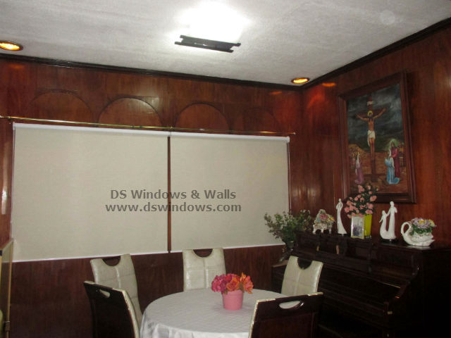 Roller Blinds Installed In Classic Dining Room Paranaque City Philippines
