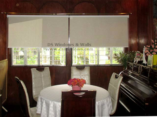 Roller Blinds For Classic Dining Room Interior Merville Paranaque City Philippines