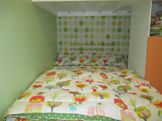 Patterned Wallpaper for Loft Type Bedroom – Marikina City, Philippines