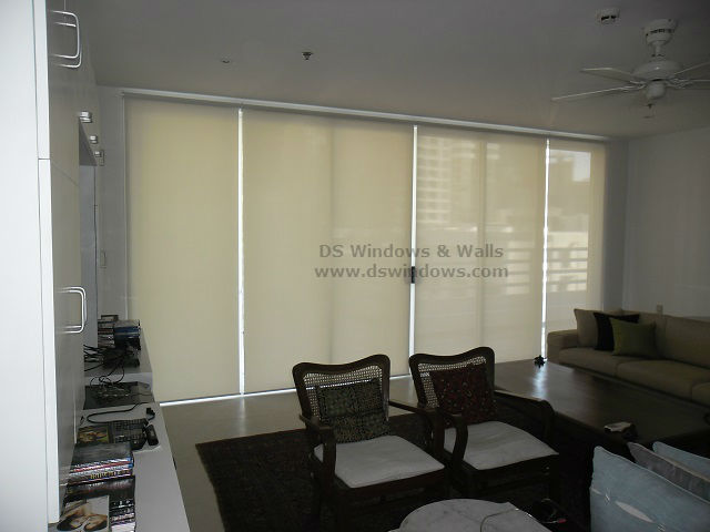 Roller Shade Blinds For Entertainment Room at Eastwood, Quezon City