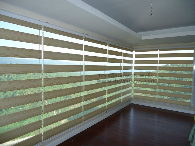 Duo Shade Blinds for Panoramic Window at Candelaria Quezon, Philippines