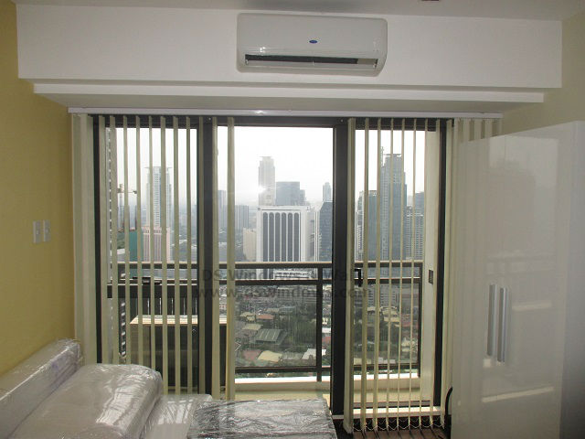 Blackout Split-type Fabric Vertical Blinds for Condo Unit - Mandaluyong City, Philippines