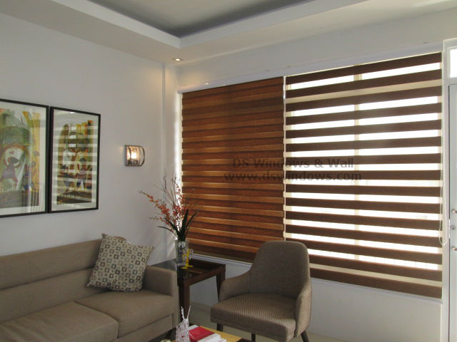Combi Blinds for Timeless Living Room Design - Parañaque City, Philippines