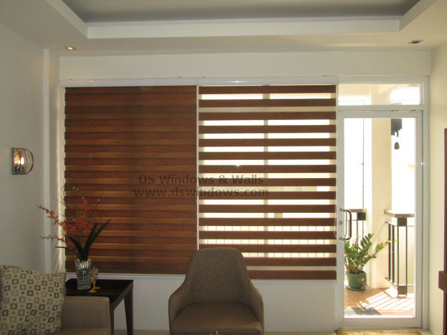 Combi blinds timeless living room design at paranaque - Small space living room designs philippines ...