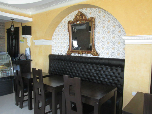 Patterned Wallpaper installed at Tomas Morato, Quezon City
