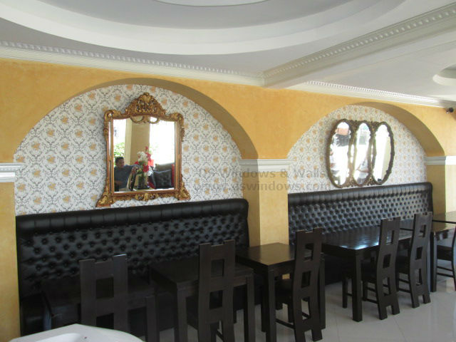 Patterned Wallpaper for Coffee Bar - Tomas Morato, Quezon City