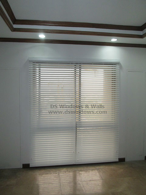 White Foam Wood Blinds installed at Pasay City Philippines