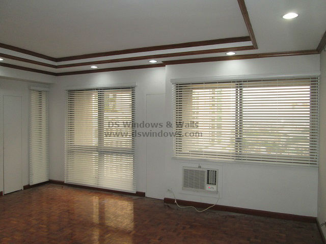 Foam Wood Blinds for Residential Condo Unit - Macapagal Boulevard, Pasay City Philippines