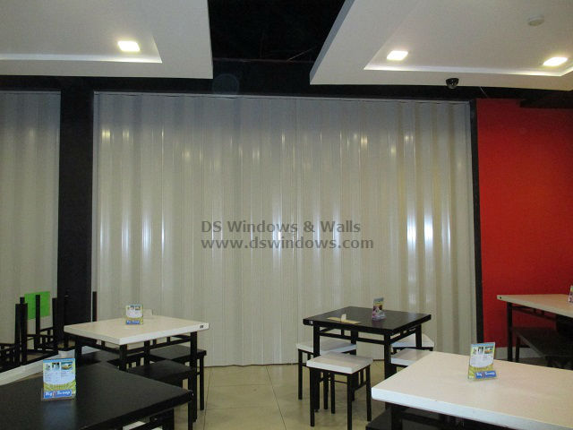 PVC Accordion Door installed at Malate Manila