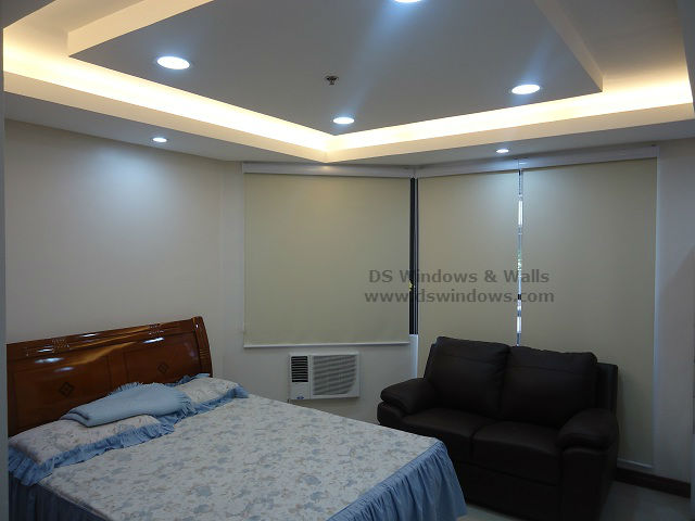 Roller Blinds with White Valence installed at Atimonan, Quezon Province Philippines